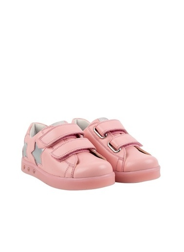 Kids A More Starbow Çift Cırtlı Işıklı n Pu Deri Kız Çocuk Ayakkabı  Pembe
